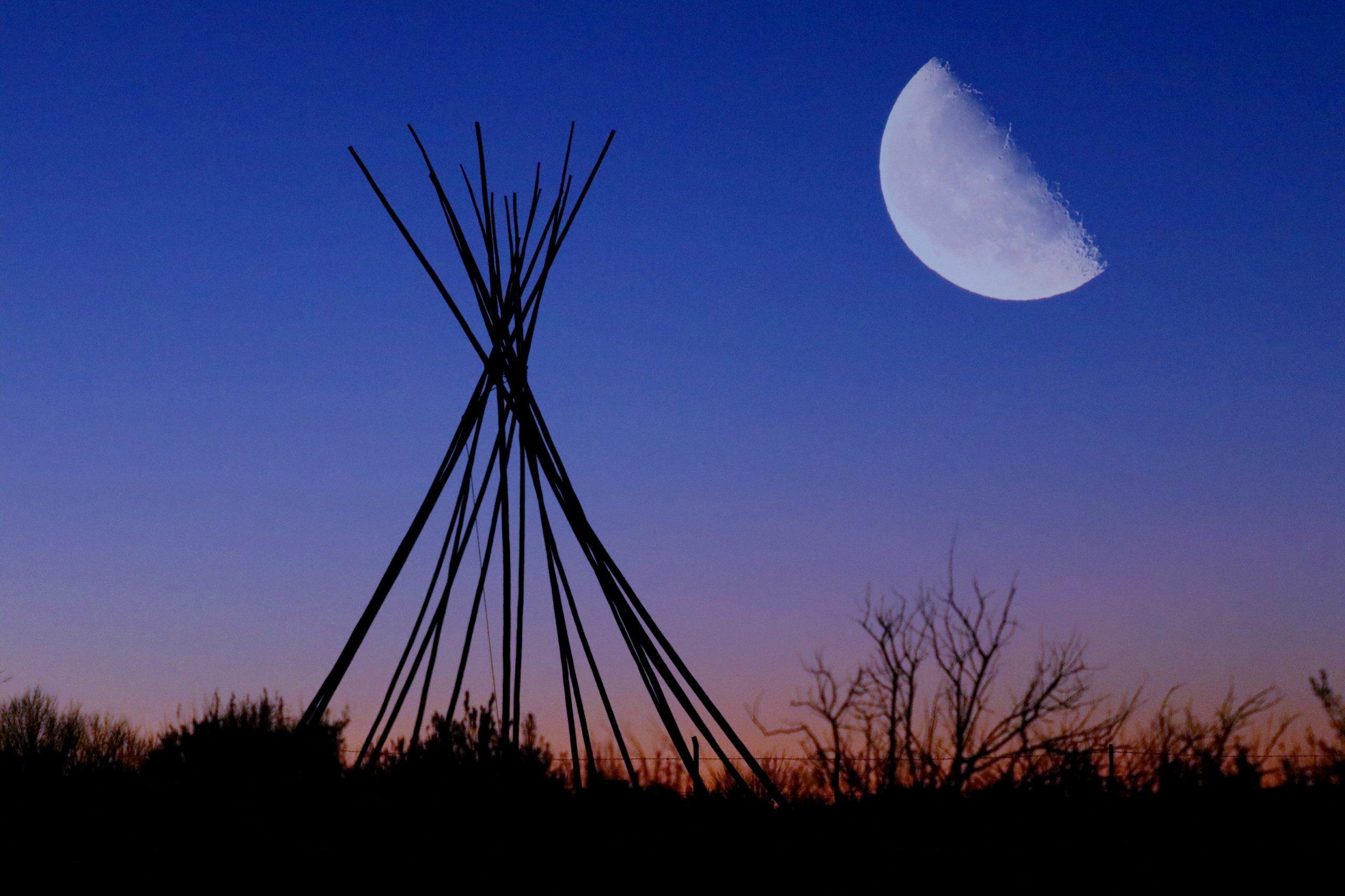 teepee-rising-moon-452J6PF